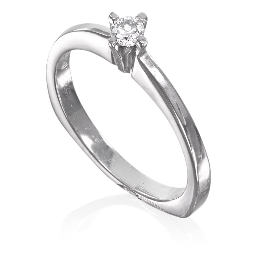 Anel solitário ouro 18k com diamante 10 pts . AGH0656  Selecione Amarelo  Fosco 1ebdd57296